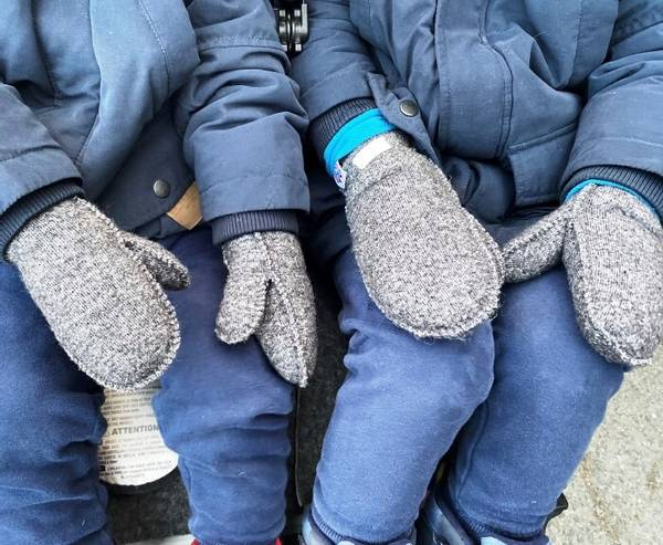 Image of Wool mittens, elastic (Kopi)