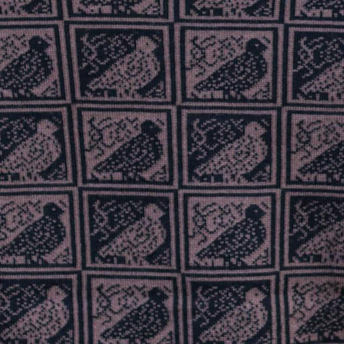 Pannebånd merinoull - rypemønster